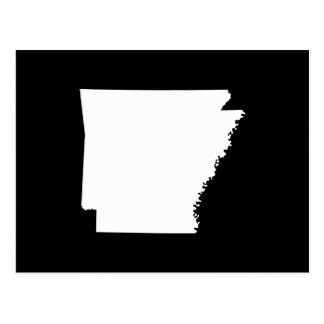 Arkansas in White Postcard