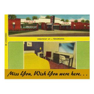 Arkansas, John's Town Motel Postcard