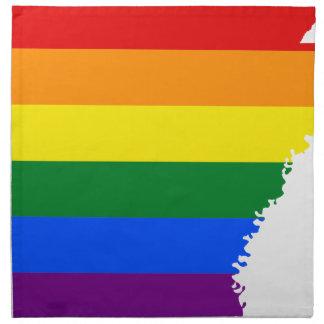 Arkansas LGBT Flag Map Napkin