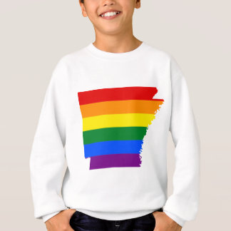 Arkansas LGBT Flag Map Sweatshirt