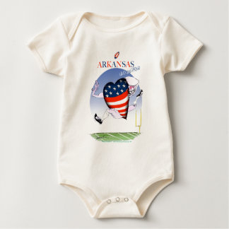 arkansas loud and proud, tony fernandes baby bodysuit