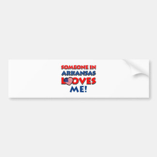 ARKANSAS love designs Bumper Sticker