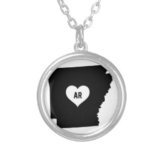 Arkansas Love Silver Plated Necklace