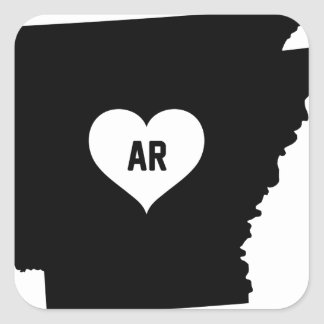 Arkansas Love Square Sticker