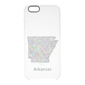 Arkansas map clear iPhone 6/6S case