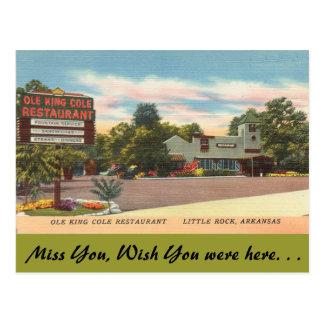 Arkansas, Ole King Cole Restaurant Postcard