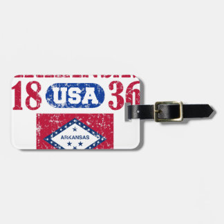ARKANSAS PERFECT TOGETHER DISTRESSED PRODUCTS LUGGAGE TAG