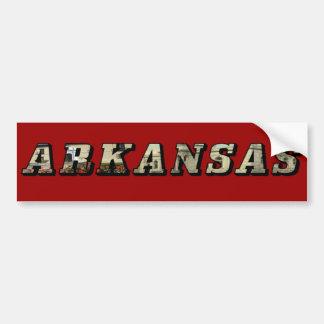Arkansas Picture Text Bumper Sticker