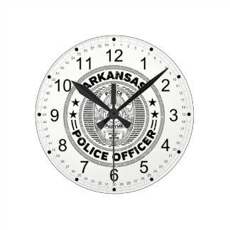 Arkansas Police Officer Round Clock