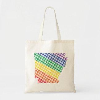 Arkansas Rainbow State Tote Bag