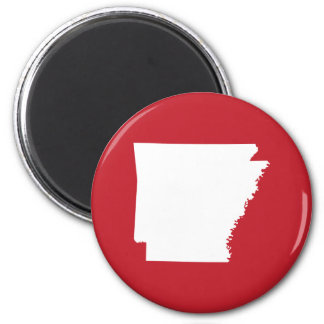 Arkansas Red and White 6 Cm Round Magnet