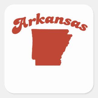 ARKANSAS Red State Square Sticker
