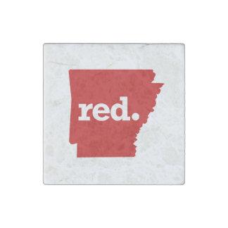 ARKANSAS RED STATE STONE MAGNET