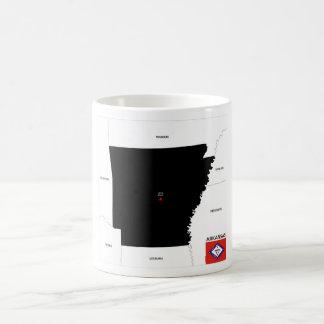arkansas republic map united states america flag coffee mugs