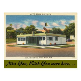 Arkansas, Ritz Grill Drive-in Postcard
