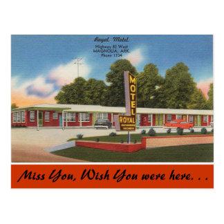 Arkansas, Royal Motel Postcard