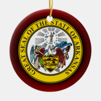 Arkansas Seal Ceramic Ornament
