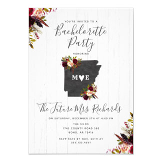 Arkansas State Bachelorette Party Invitation