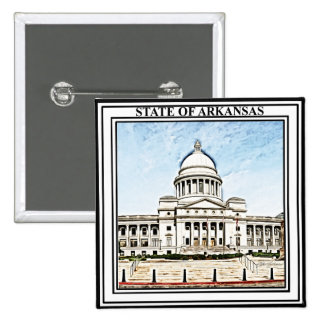 Arkansas State Capitol 15 Cm Square Badge