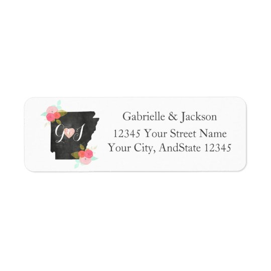 Arkansas State Chic Monogram return address label