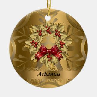 Arkansas State Christmas Ornament