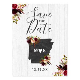 Arkansas State Destination Rustic Save the Date Postcard