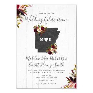 Arkansas State Destination Wedding Invitation