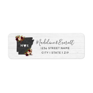 Arkansas State Destination Wedding Return Address Return Address Label