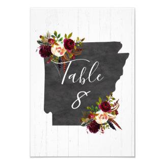 Arkansas State Destination Wedding Table Numbers