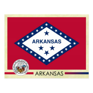 Arkansas State Flag and Seal Postcard