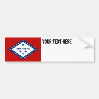 Arkansas State Flag Bumper Sticker