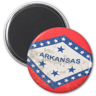 Arkansas State Flag Grunge 6 Cm Round Magnet