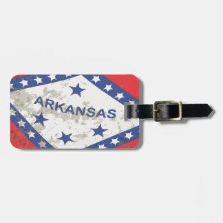 Arkansas State Flag Grunge Luggage Tag