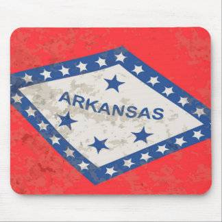 Arkansas State Flag Grunge Mouse Pad
