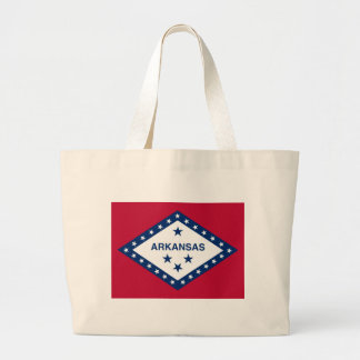 Arkansas State Flag Large Tote Bag