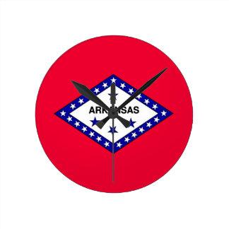 Arkansas State Flag Round Clock
