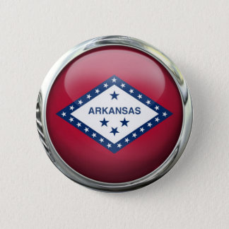 Arkansas State Flag Round Glass Ball 6 Cm Round Badge