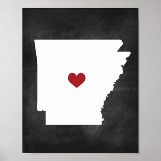 Arkansas State Love Chalkboard Print