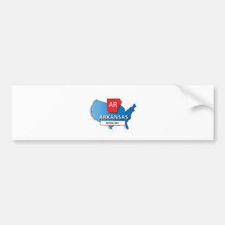 Arkansas state map bumper sticker