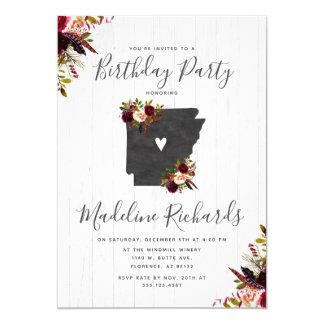Arkansas State Rustic Birthday Party Invitation