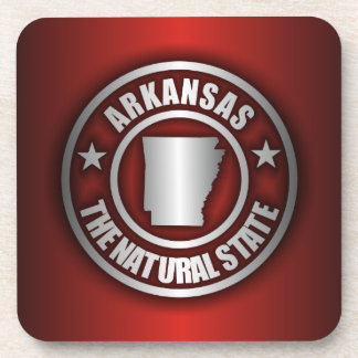 """Arkansas Steel"" Cork Coasters (Red)"