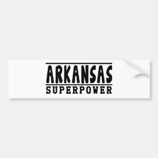 Arkansas Superpower Designs Bumper Sticker