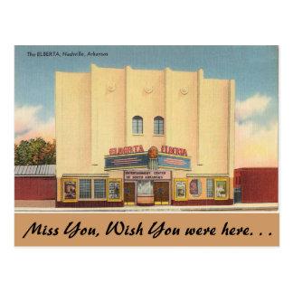 Arkansas, The Elberta Theater Postcard