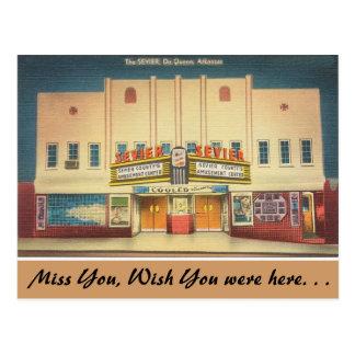 Arkansas, The Sevier Theater Postcard