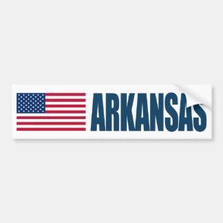 Arkansas US Flag Bumper Sticker