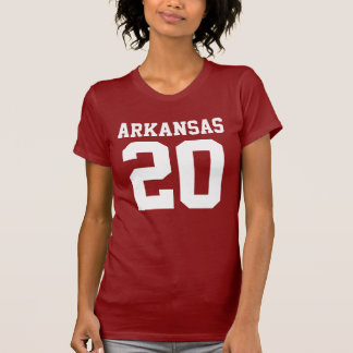Arkansas With Number (Customizable Number) T-Shirt