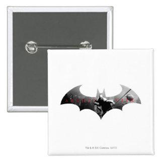 Arkham City Bat Symbol 15 Cm Square Badge