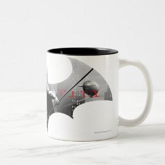 Arkham City Bat Symbol Two-Tone Mug