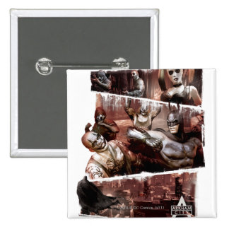 Arkham City Characters Trifold Pinback Button