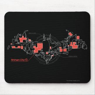 Arkham City Diagram Mouse Pad